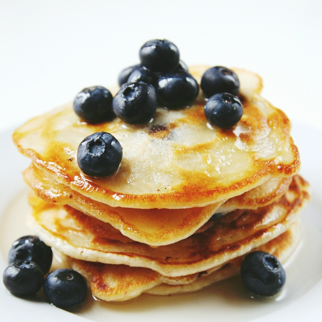 Thick and fluffy 1 Cup Blueberry Pancakes