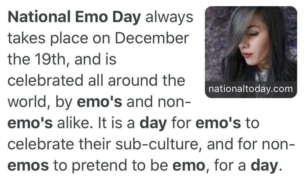 National Emo Day Wishes for Whatsapp