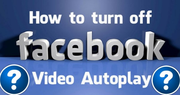 turn off video autoplay facebook