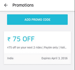 Uber Offer - Get Rs.75 off on two Uber rides (All users) http://www.nkworld4u.com/ + Rs 150 Joining Bonus