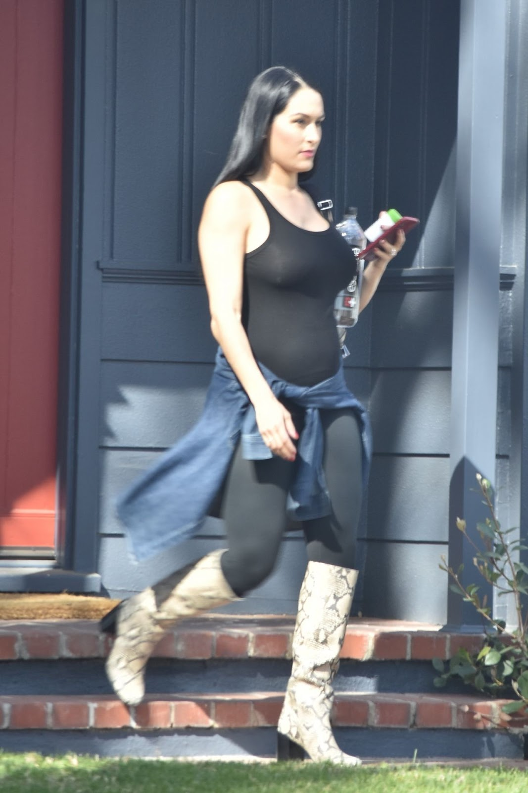 Nikki Bella bares baby bump out and about in Brentwood