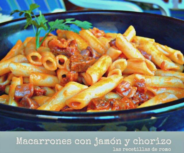 """""""Macarrones con jamón y chorizo"""""""