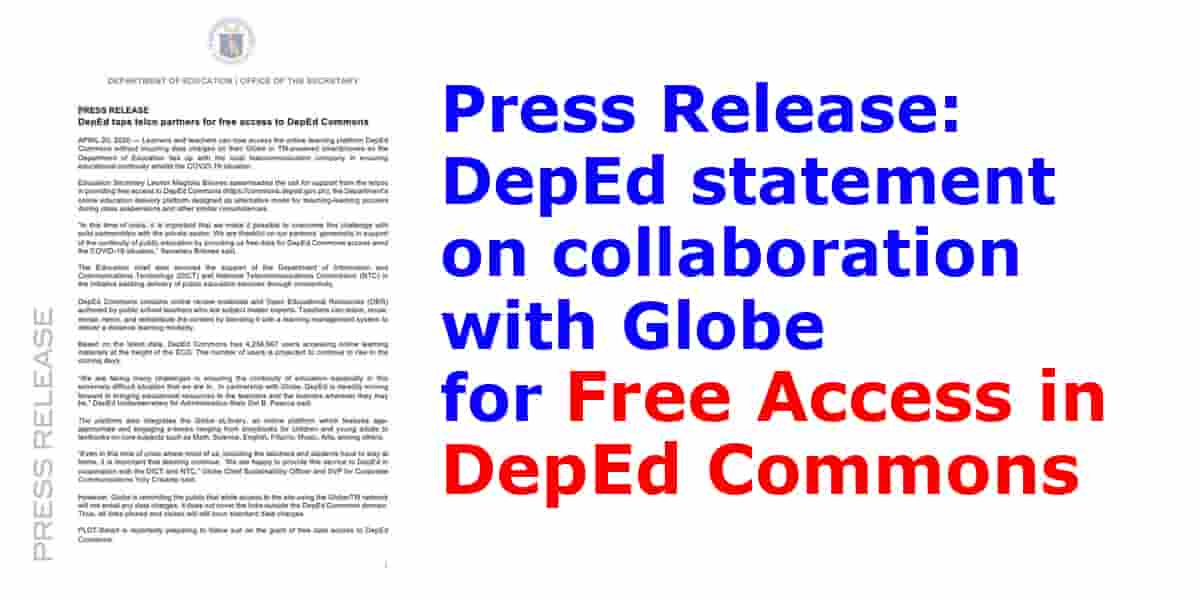 Press%2BRelease%2BDepEd%2Bstatement%2Bon%2Bcollaboration%2Bwith%2BGlobe%2Bfor%2BFree%2BAccess%2Bin%2BDepEd%2BCommons