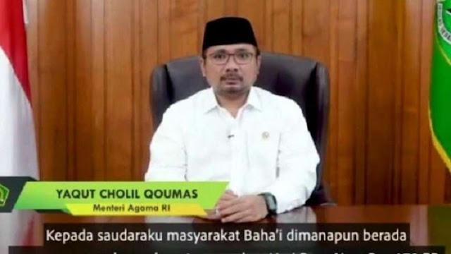 Ucapan Hari Raya Baha'i Jadi Polemik, PKS Ingatkan Yaqut Tidak Buat Gaduh Publik