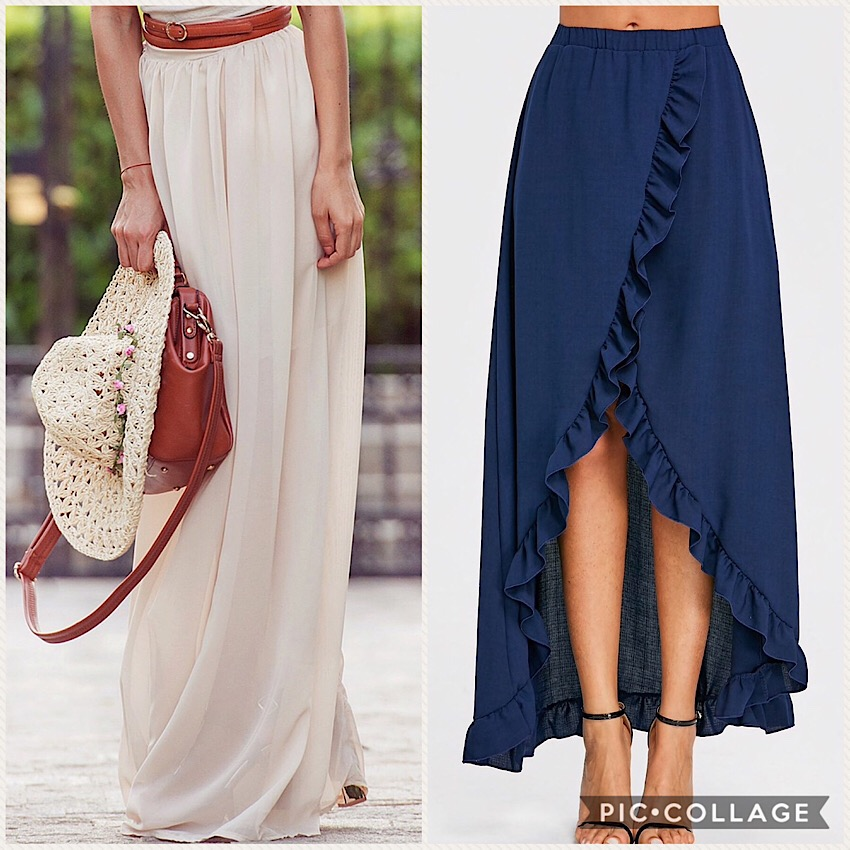 Maxi Skirt Rosegal
