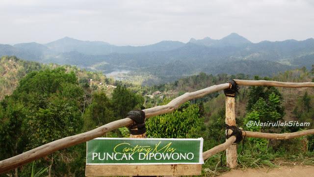 Pemandangan dari Canting Mas Puncak Dipowono, Kulon Progo