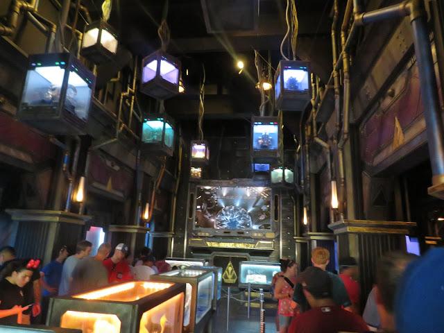 Guardians of the Galaxy Mission Breakout Queue Line Disney California Adventure