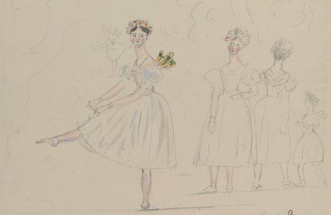 Disegni Di Ballerine Da Disegnare : Vorrei essere un personaggio austeniano il disegno di vittoria