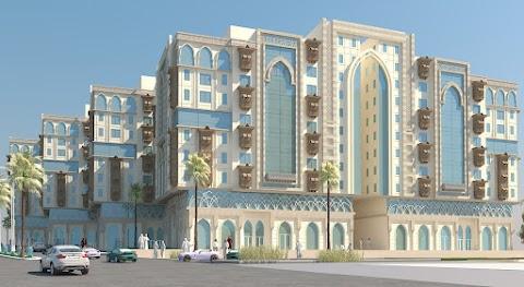 تصميم مشروع تجاري اداري فندقي ومسجد