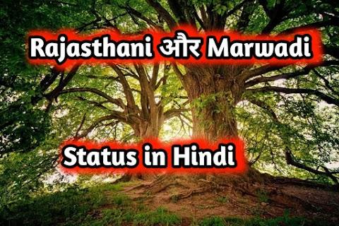 राजस्थानी स्टेटस   मारवाड़ी स्टेटस   Rajasthani status in Hindi