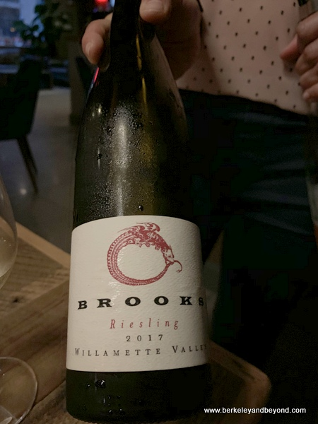 2016 Brooks Dry Riesling (Willamette Valley, Oregon) wine at Veritas in Columbus, Ohio