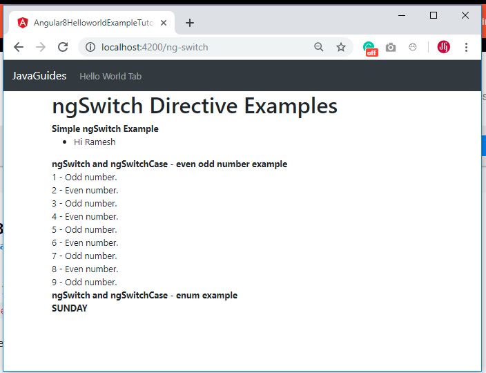 Angular 7 8 ngSwitch Example