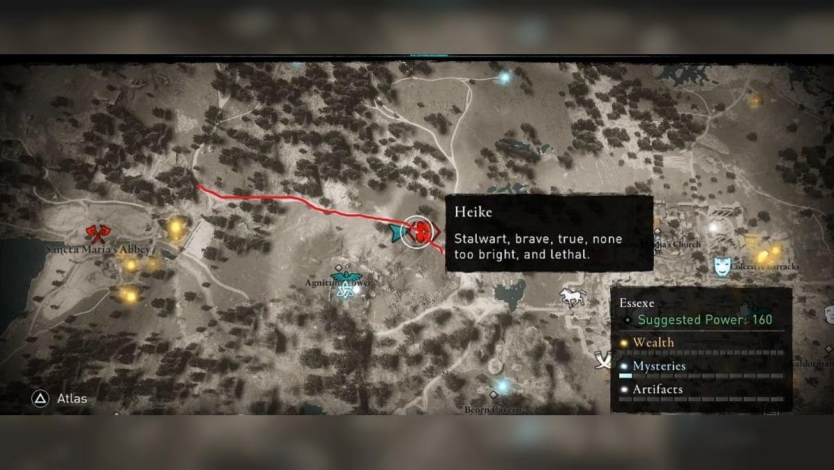 Heike Essexe area. Map