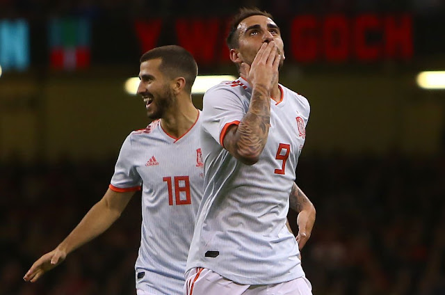 Spain Francisco Alcacer scores against Wales