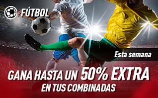 sportium Fútbol: Extra en Combinadas hasta 29 noviembre 2020