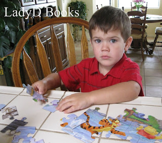LadyD Books: Grandson with Puzzles