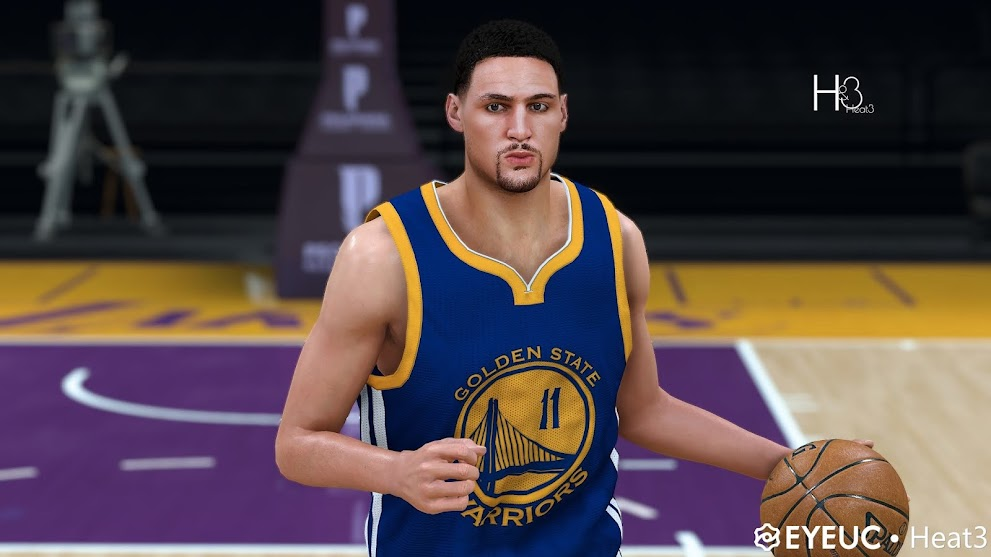 "Klay Thompson ""15-17"" Cyberface and Body Model by Heat3 [FOR 2K21]"
