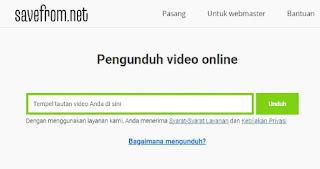 mengunduh video ig tanpa aplikasi dengan savefrom.net