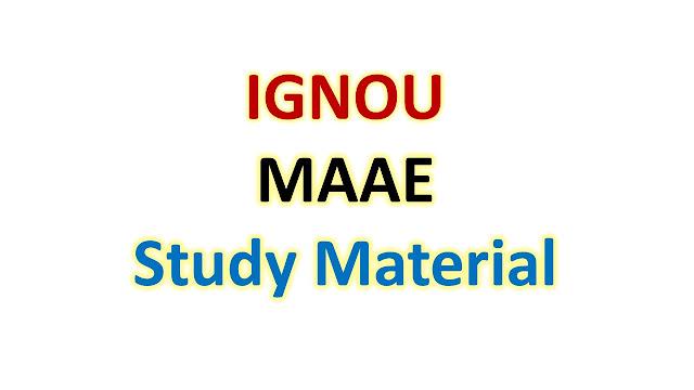 IGNOU MAAE Study Material