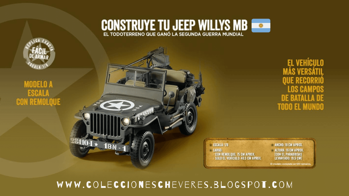 Construye tu Jeep Willys MB Salvat Argentina