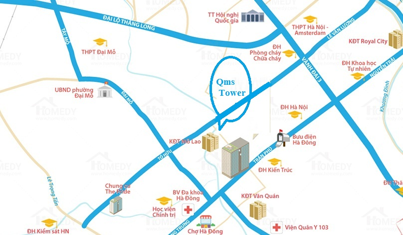 vị trí chung cư qms tower