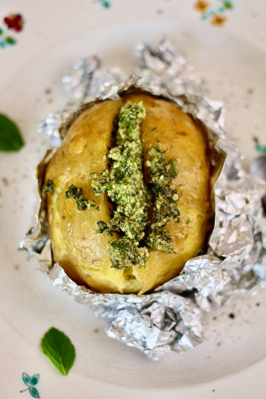 Ofenkartoffeln mit Pesto