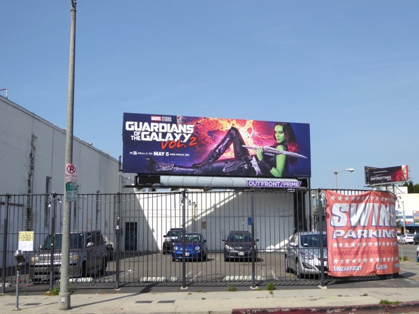 Guardians of Galaxy 2 Gamora billboard