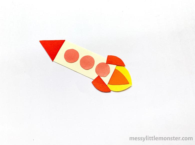 paper rocket craft for kids