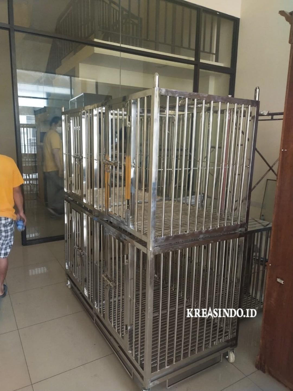 Repeat Order Kandang Stainless untuk Anjing Pesanan Bpk. Chimy di Kelapa Gading