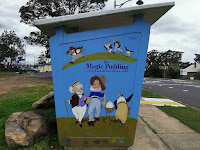 Glenbrook Painted Bus Shelter by Jayne Shephard
