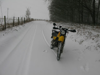 Yamaha AG200 in the snow