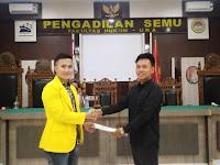 Apriyanto Zebua Duduki Pucuk Pimpinan DPM Fakultas Hukum UNA, Wadek III Harapkan Peningkatan Kegiatan