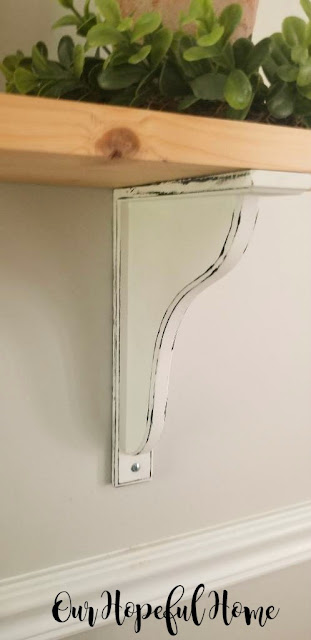 "Ikea Hensvik 7"" reversible white corbel distressed"