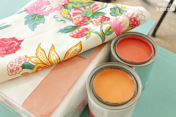 Paint Color TONE CORAL AND GOLD NIGHTSTAND