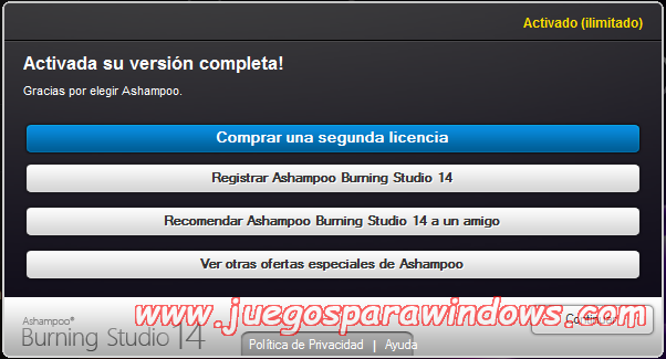 Ashampoo Burning Studio v14.0.5.10 Full PC ESPAÑOL 12