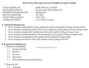 Contoh RPP Terbaru Sesuai Surat Edaran Mendikbud RI No 14 Tahun 2019