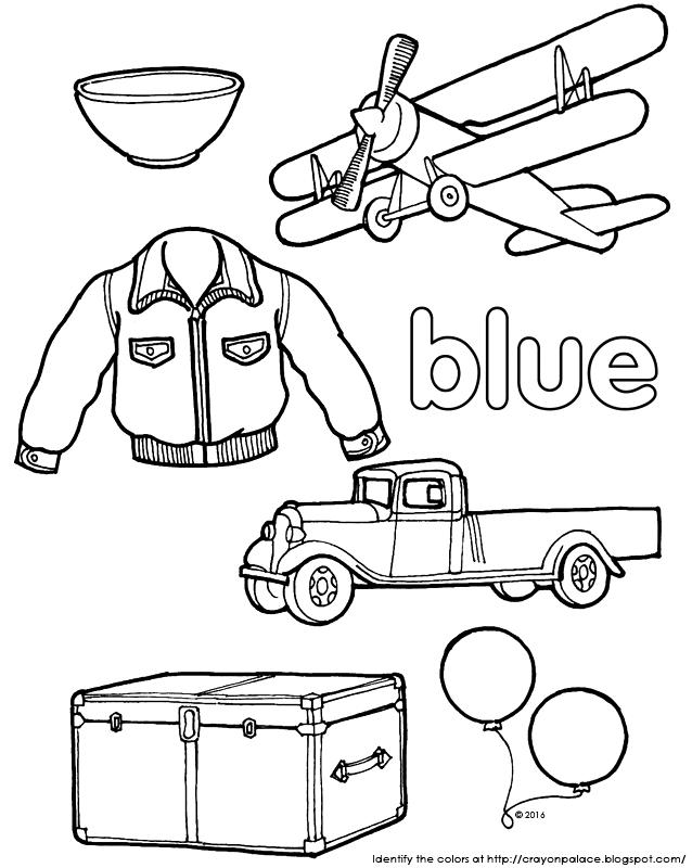 blue crayon coloring page