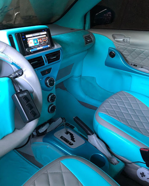 Custom Scion iQ interior