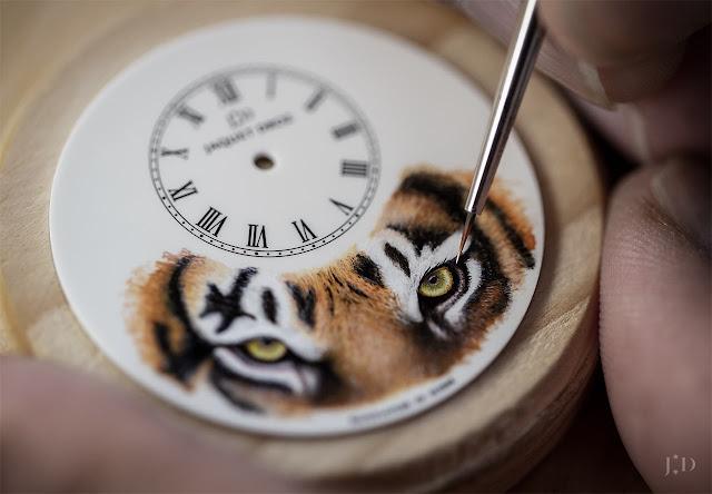 "Jaquet Droz Petite Heure Minute ""Tiger"" J005033331"
