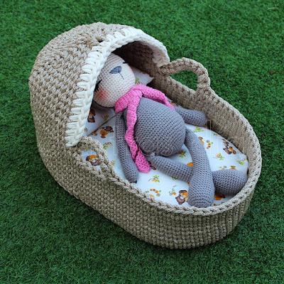 Capazo crochet bebé