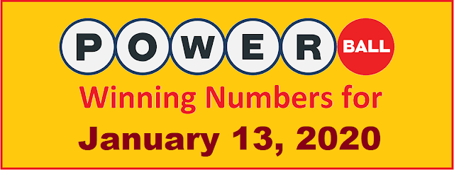 PowerBall Winning Numbers for Wednesday, January 13, 2021