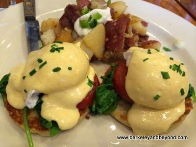 eggs Benedict at Venus restaurant in Berkeley, California