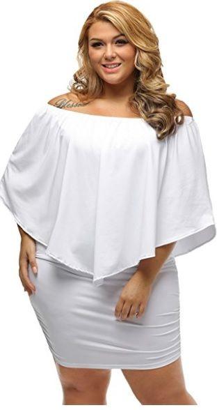 Vestidos de fiesta blanco para gorditas
