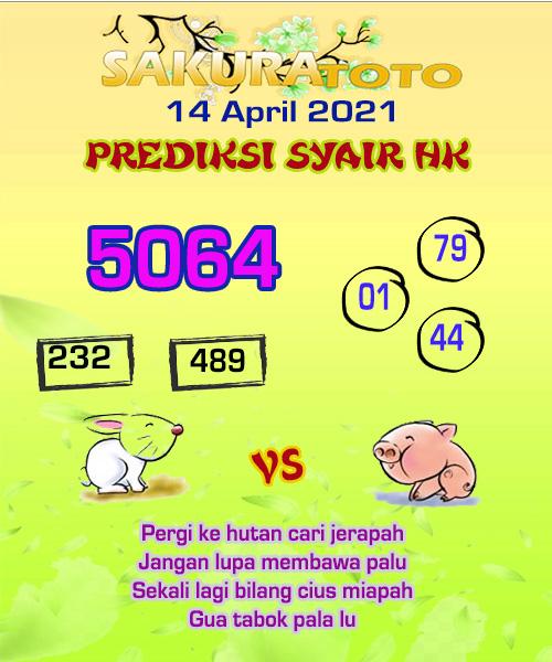 Syair HK Rabu 14 April 2021 -