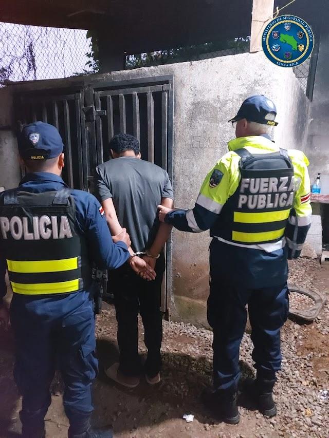 Fuerza Pública captura a presunto receptador que intentaba viajar a la capital
