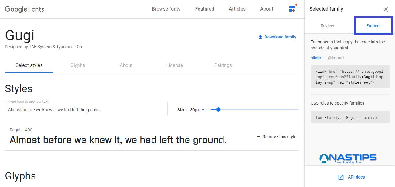 Cara menambahkan google fonts di blogger