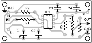 Parts Placement Layout Active Impedance Converter #2