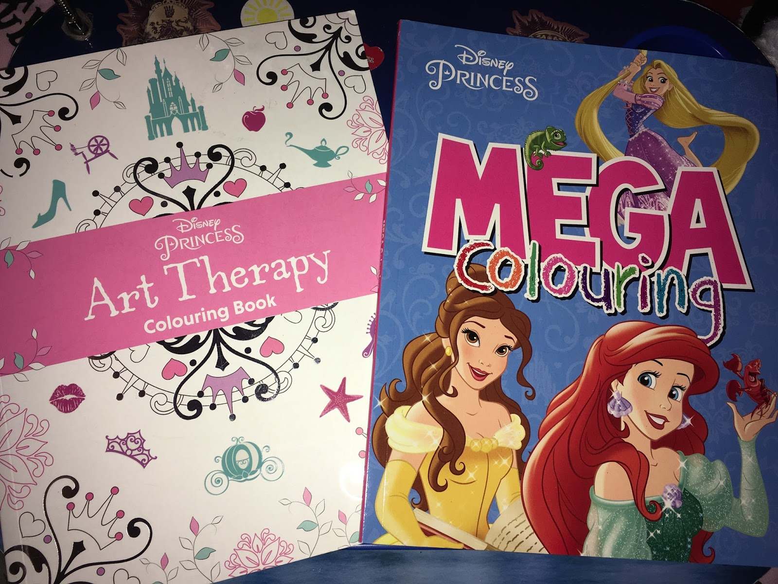 Disney Princess Art Therapy Colouring Book And Mega Books