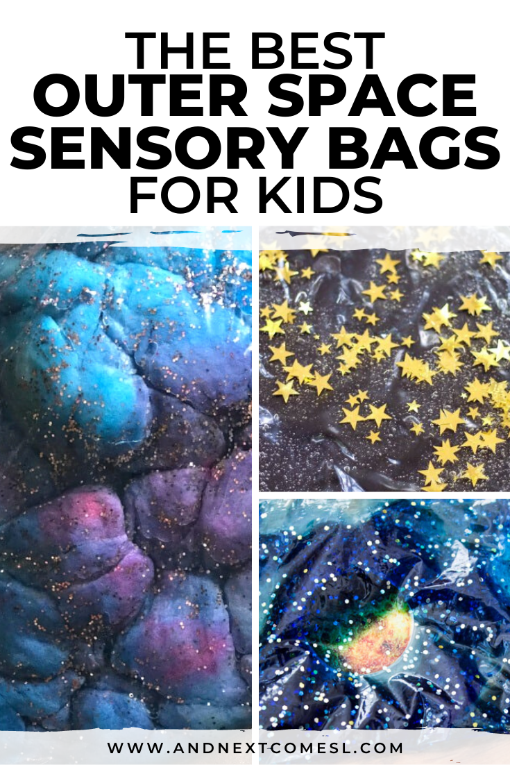 Totally awesome outer space sensory bags for toddlers and preschoolers