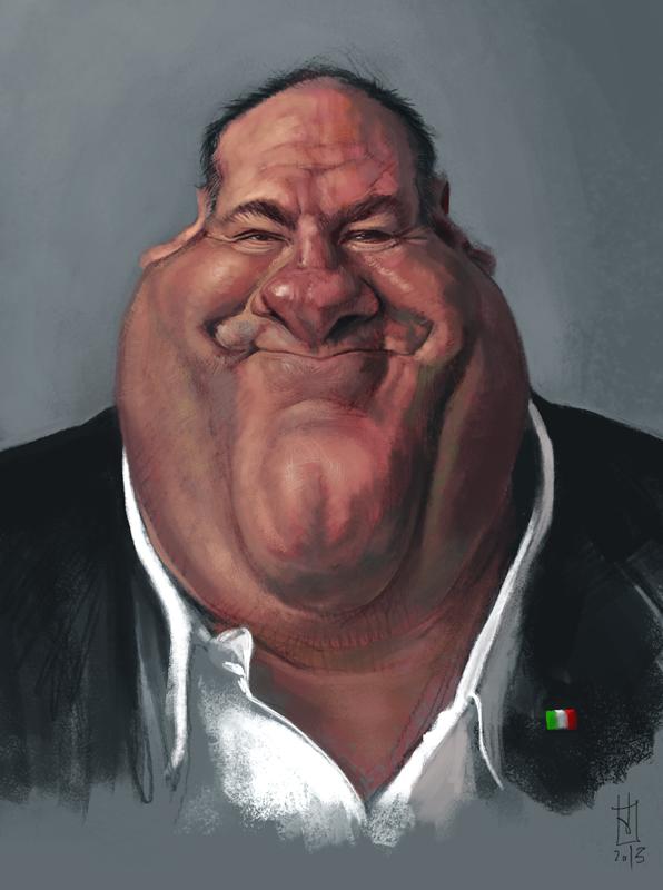 James Gandolfini por Alberto Russo
